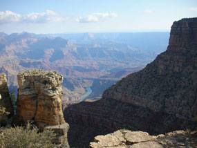 view of Colorado River from rim