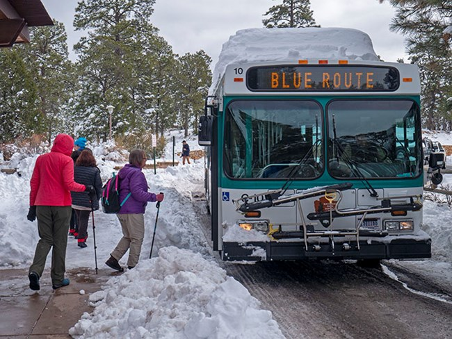 Village Shuttle Bus Route Grand Canyon National Park U S National Park Service