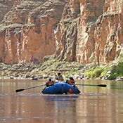 Boaters on the Colorado River.