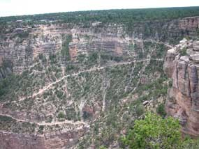view of top section of Bright Angel Trail