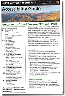 cover of grand canyon accessibility guide