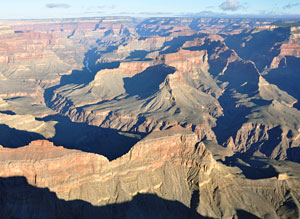 View northwest across the Grand Canyon