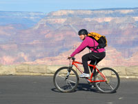 Bicycling on Hermit Road