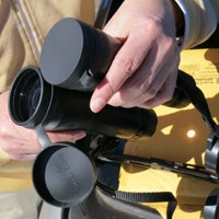viewing eclipse - binocular method