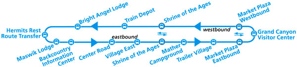 Blue Route Shuttle Map