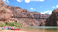 Kaibab Suspension Bridge crossing the Colorado River above Phantom Ranch