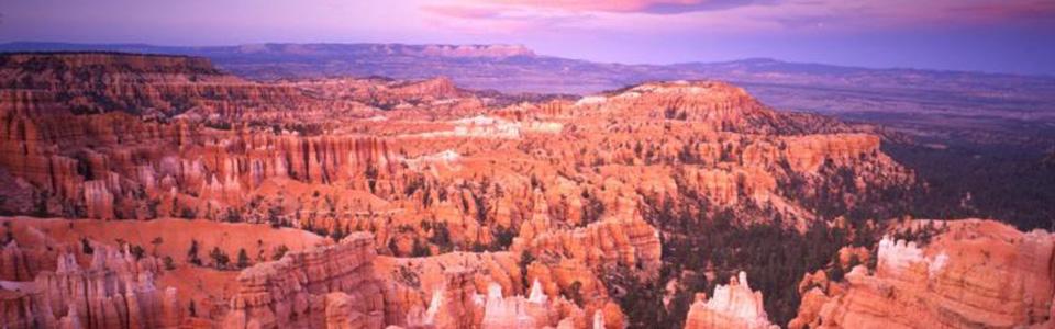 View of the sunset toward the Aquarius Plateau.