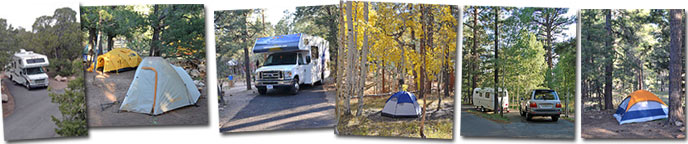 Grand Canyon National Park Campground Scenes