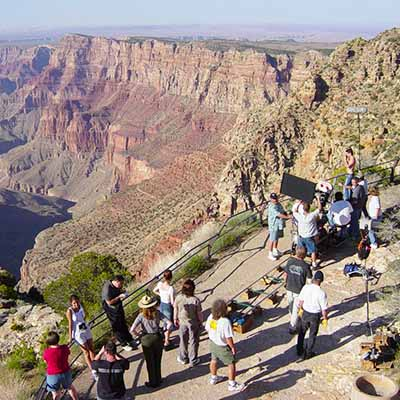Filming happening at Grand Canyon National Park.