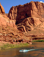 smooth water raft trip on Colorado River