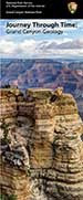 Geology brochure cover shows the limestone fliffs below  Mather Point overlook