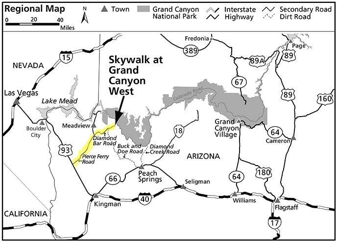The Hualapai Tribe And Skywalk Grand Canyon National Park US - Grand canyon location on us map