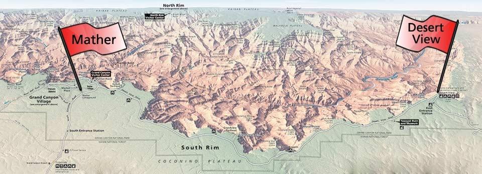 Mather Campground Map Campgrounds   South Rim   Grand Canyon National Park (U.S.  Mather Campground Map