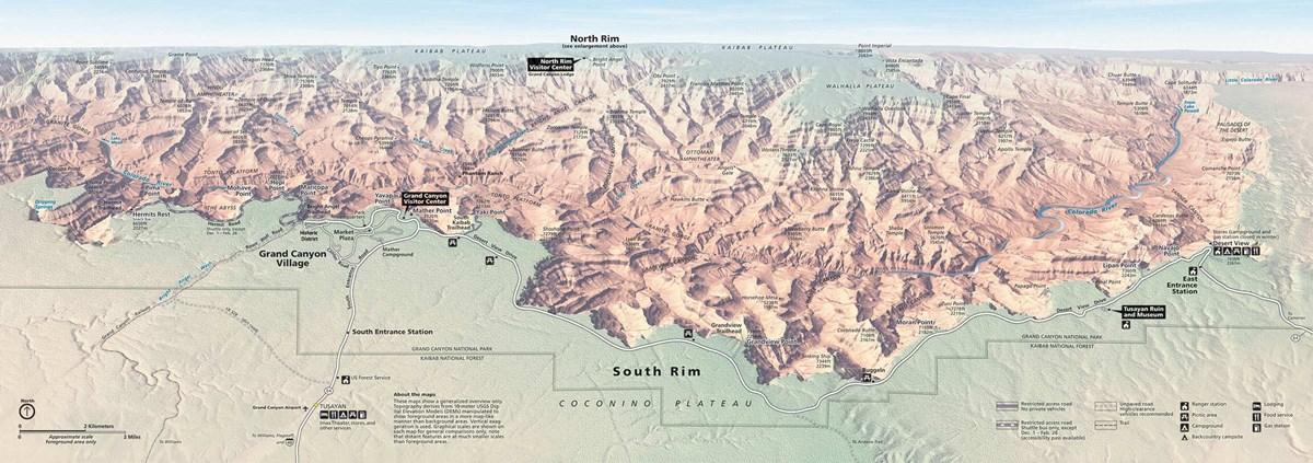 Grand Canyon Maps Maps   Grand Canyon National Park (U.S. National Park Service)