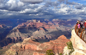 view from Mather Point on the South Rim