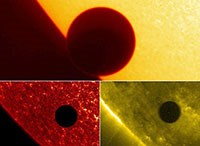 NASA photos of 2004 Transit of Venus