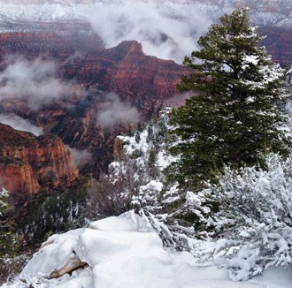 View from the North Rim during winter
