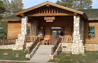 The entrance to the North Rim Visitor Center and bookstore.