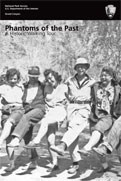 Phantom Ranch Walking Tour Booklet Shows black and white photo of five people posing arm-in-arm.
