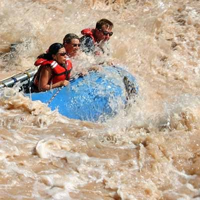 People rafting on the Colorado River.