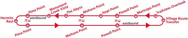 Hermit Road Red Route Shuttle Maps