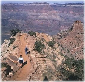 hikers on the South Kaibab Trail, Grand Canyon