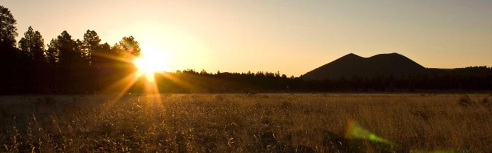 Sunrise at Sunset Crater Volcano.