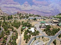 View looking north across Grand Canyon Village into Grand Canyon.