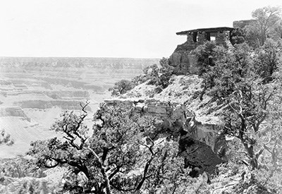 West Facing Exposure of Yavapai Museum in 1929.