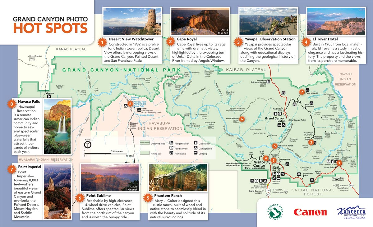 {Things To Do Grand Canyon National Park US National Park Service – Grand Canyon Tourist Map
