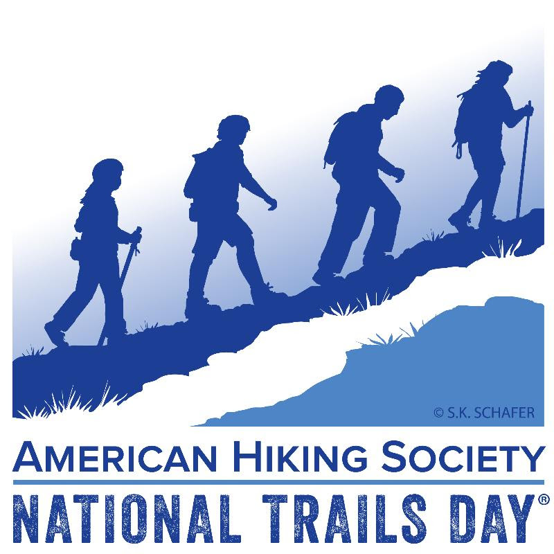 a picture of the National Trails Day logo