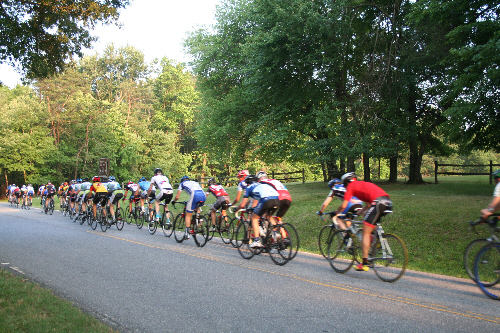 a picture of the Greenbelt Park bike races