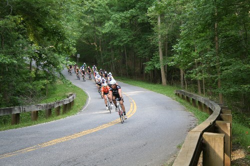 a picture of the Bike races in Greenbelt Park