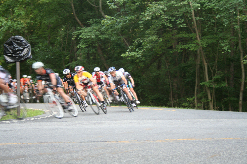 a picture of the Greenbelt Park Mt Velo practice bicycle races
