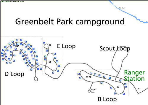 a picture of the Greenbelt Campground camp