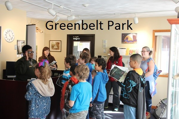 Greenbelt Park Junior rangers taking the pledge