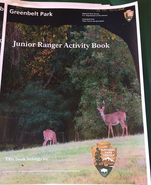 Greenbelt Park Junior Ranger booklet cover