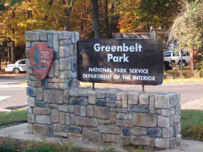 Greenbelt Park entrance sign