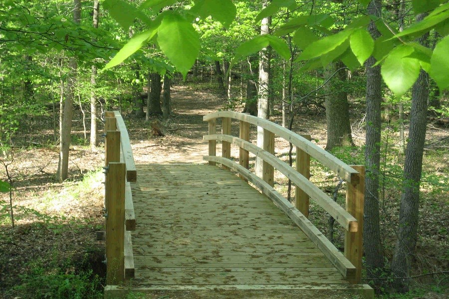 a bridge on the Perimeter Trail