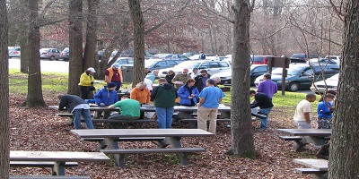 people enjoying a picnic in the Sweetgum Picnic Area