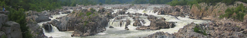 Great Falls of the Potomac in summer