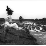 Two women visiting Great Falls in 1920
