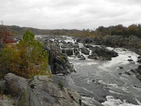 Great Falls at low water level in the fall