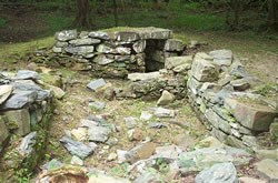 Ruins of the springhouse in Matildaville