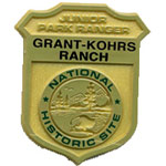 Grant-Kohrs Ranch junior ranger badge.