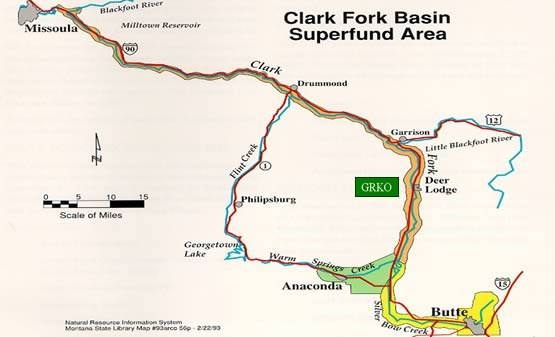 Clark Fork Basin Superfund Area.