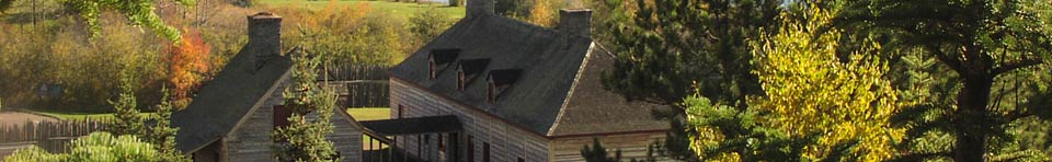 A fall day on Mt. Rose overlooking the historic depot at Grand Portage.