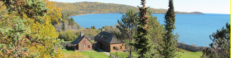 Overlooking Grand Portage's historic depot from Mt. Rose Trail.