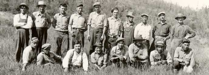 Civil Conservation Corps Crew Grand Portage 1936