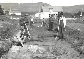 1936 Excavations by the MHS and WPA at the NWC depot on Grand Portage Bay.